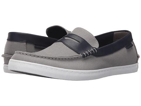 Incaltaminte Barbati Cole Haan Nantucket Loafer Grey CanvasBlazer Blue Leather