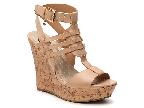 Incaltaminte Femei G by GUESS Donnte Wedge Sandal Nude