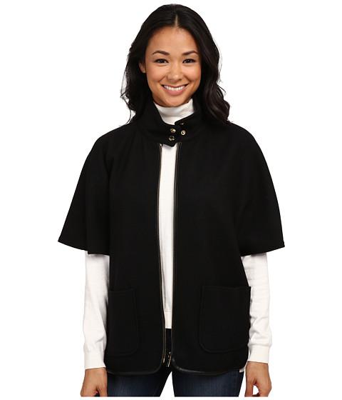 Imbracaminte Femei Calvin Klein Short Sleeve Capelet w Faux Leather Black