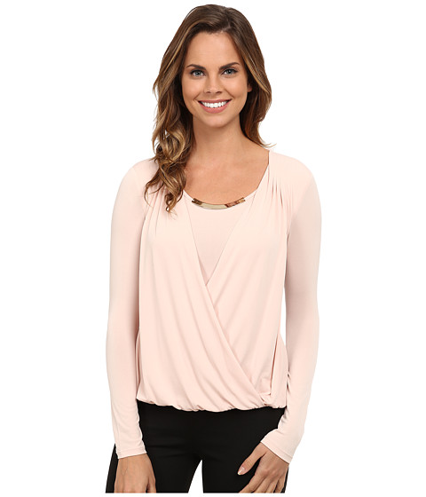 Imbracaminte Femei Calvin Klein Wrap Top w Gold Bar Hardware Blush