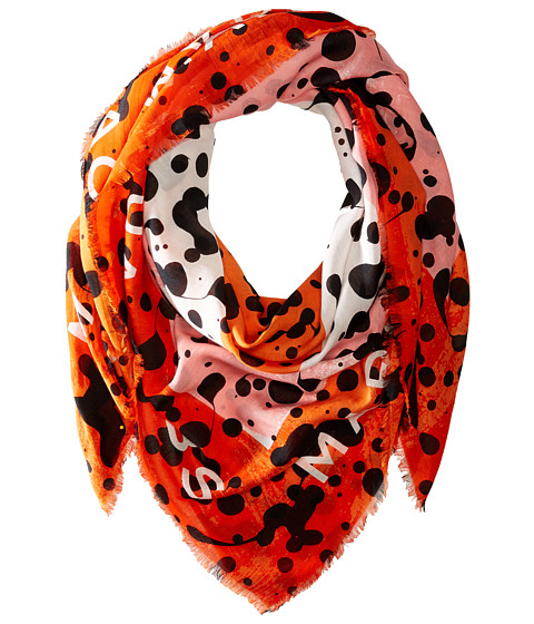 Accesorii Femei Marc by Marc Jacobs Concentric Square Scarf Bright Tangelo Multi