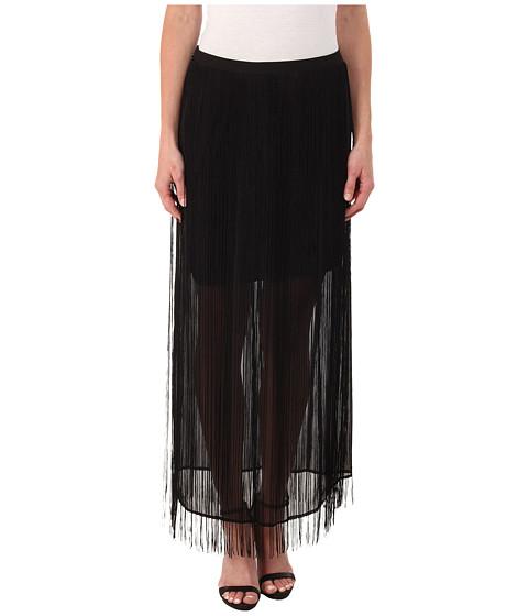 Imbracaminte Femei DKNY Fringed Maxi Skirt Black