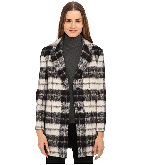 Imbracaminte Femei Kate Spade New York Woodland Check Bow Coat Pumice
