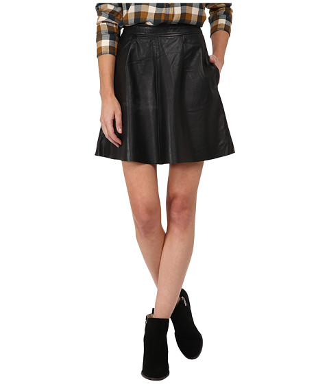 Imbracaminte Femei Lucky Brand Leather Flirty Skirt Lucky Black