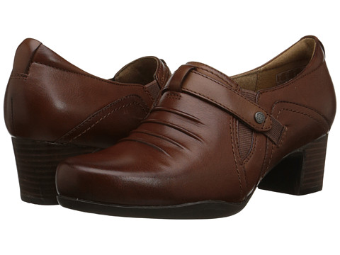 Incaltaminte Femei Clarks Rosalyn Nicole Dark Tan Leather