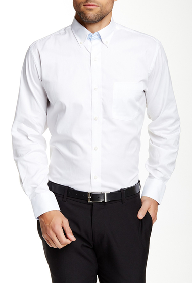 Imbracaminte Barbati TailorByrd Long Sleeve Woven Regular Fit Shirt WHITE