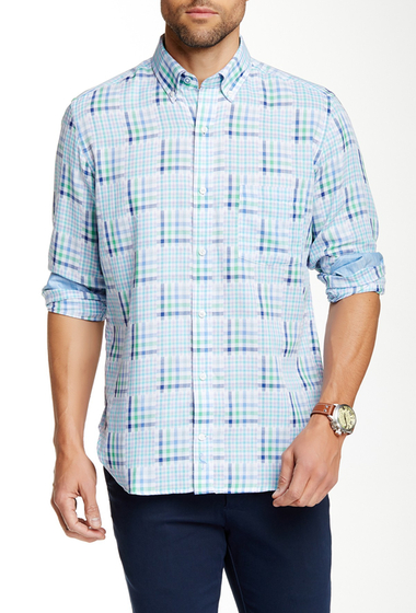 Imbracaminte Barbati TailorByrd Long Sleeve Woven Regular Fit Shirt GREEN