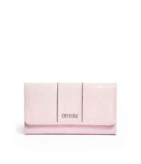 Genti Femei GUESS Ware Patent Logo Slim Wallet blush
