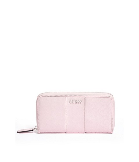 Genti Femei GUESS Ware Patent Logo Zip-Around Wallet blush
