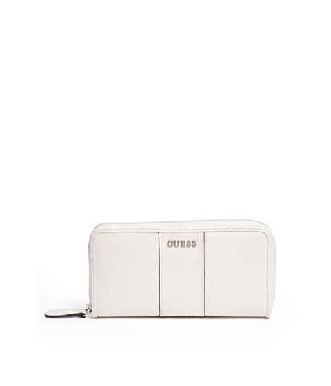 Genti Femei GUESS Ware Patent Logo Zip-Around Wallet stone