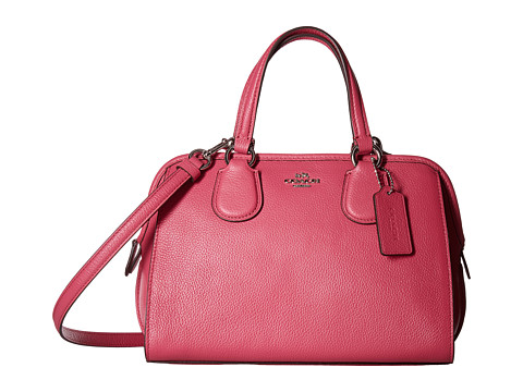 Genti Femei COACH Polished Pebble Leather Mini Nolita Satchel SVDahlia