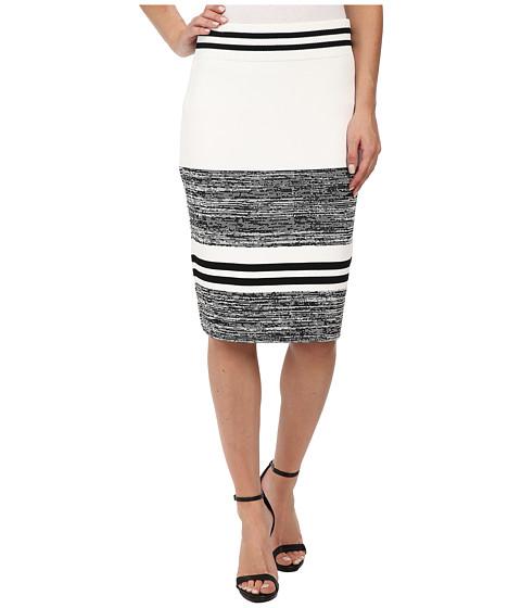 Imbracaminte Femei Calvin Klein Marled Stripe Sweater Skirt BlackWhite