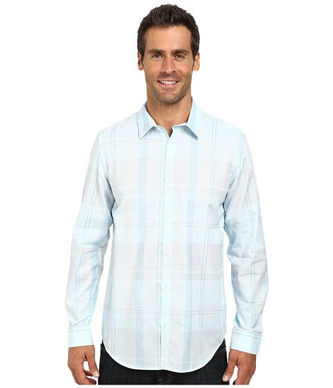 Imbracaminte Barbati Calvin Klein Liquid Cotton Large Plaid Woven Shirt White
