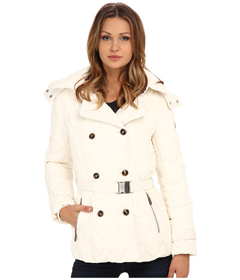 Imbracaminte Femei Cole Haan Down Peacoat with Removable Hood White