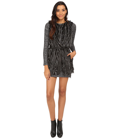 Imbracaminte Femei Brigitte Bailey Laura Faux Fur Vest BlackWhite
