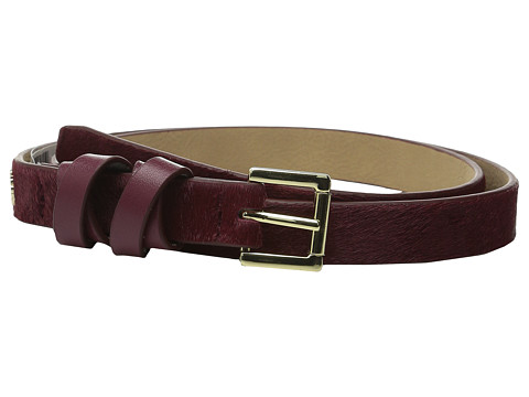 Accesorii Femei Vince Camuto 20mm Haircalf Belt with Smooth Wrapped Loop Cabernet