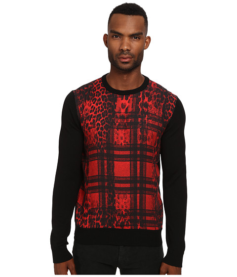 Imbracaminte Barbati Just Cavalli Buffalo Rebellion Sweater BlackBuffalo Rebellion Print