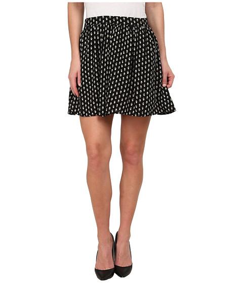 Imbracaminte Femei Lucky Brand Woodstamp Flirty Skirt Black Multi