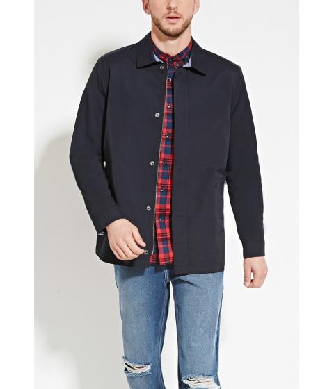 Imbracaminte Barbati Forever21 Cotton-Blend Jacket Navy