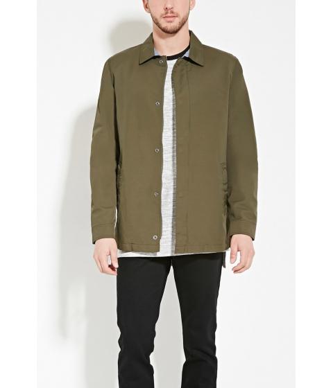 Imbracaminte Barbati Forever21 Cotton-Blend Jacket Olive
