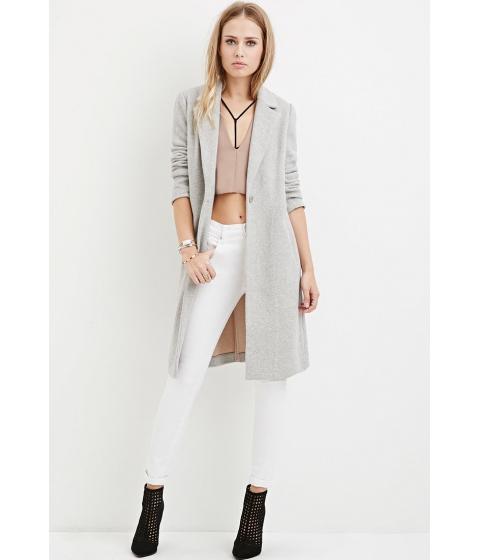 Imbracaminte Femei Forever21 Longline Wool-Blend Coat Heather greytaupe