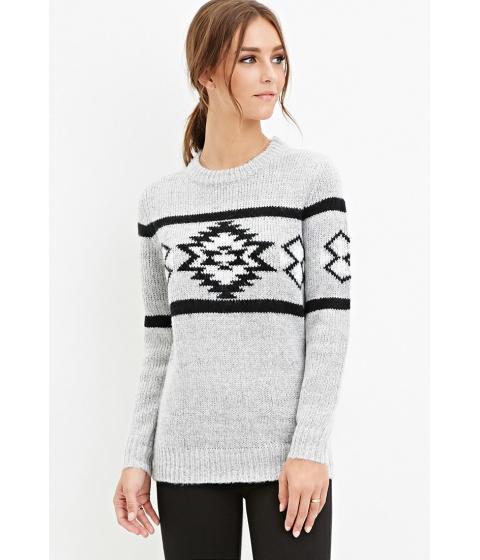 Imbracaminte Femei Forever21 Tribal Pattern Sweater Heather greyblack