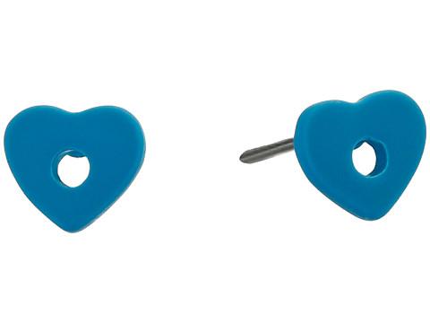 Bijuterii Femei Marc by Marc Jacobs Heart Core Colored Hole Punch Heart Stud Earrings Turkish Tile