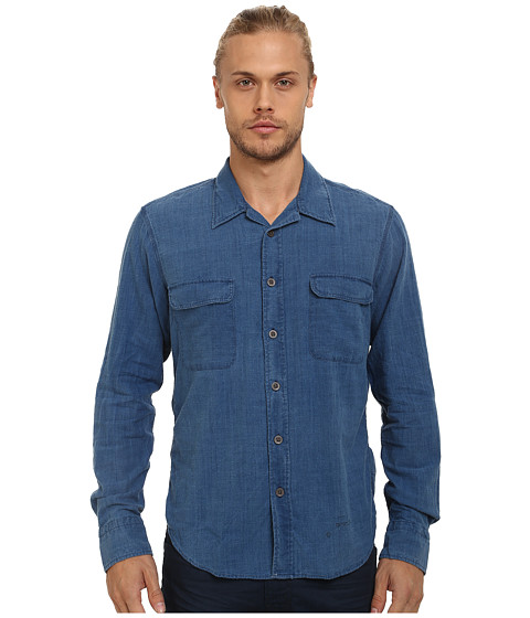 Imbracaminte Barbati Gant Rugger R Indigo Slub Shirt Light Indigo
