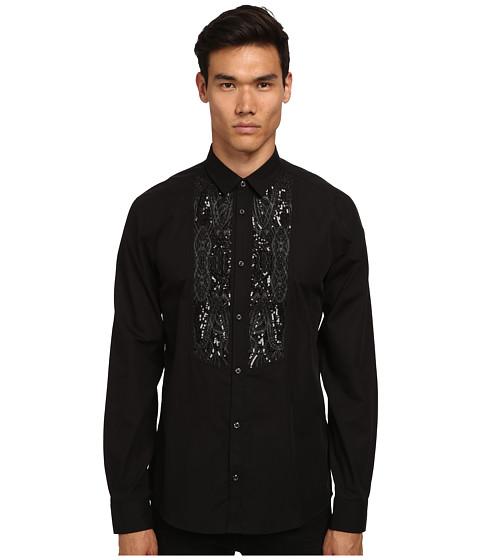 Imbracaminte Barbati Just Cavalli Embellished Paisley Tuxedo Shirt Black