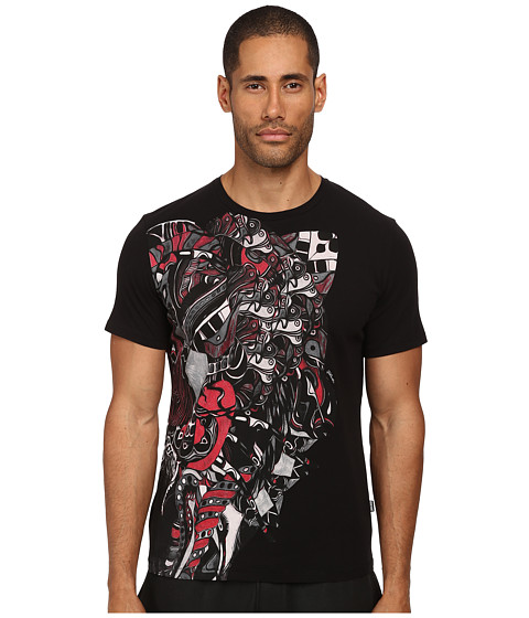 Imbracaminte Barbati Just Cavalli Abstract Mechanical Tee Black