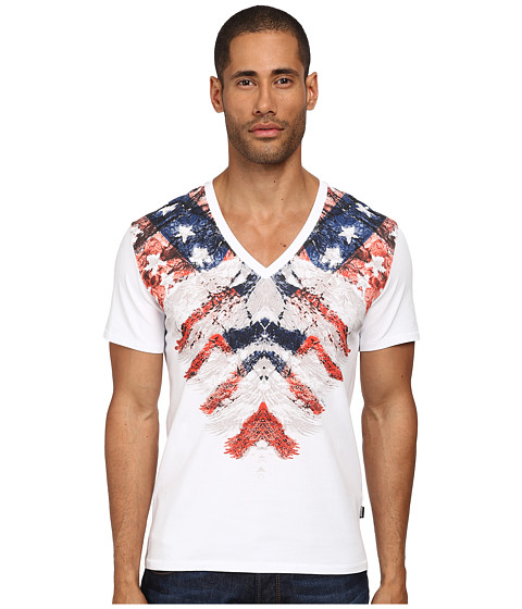Imbracaminte Barbati Just Cavalli Rebellion V-Neck Tee White
