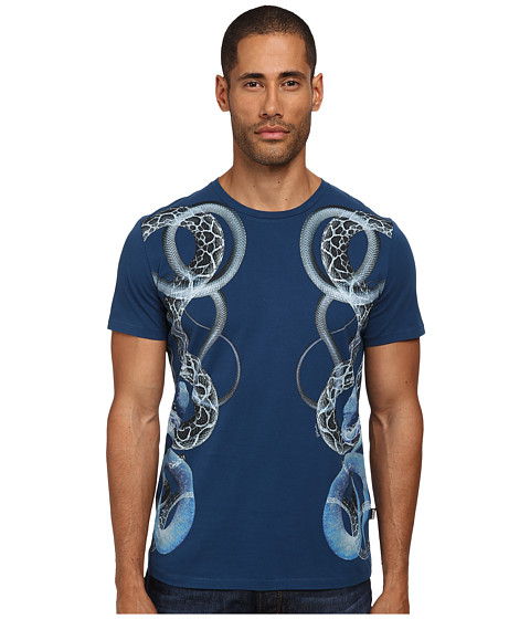 Imbracaminte Barbati Just Cavalli Serpent Sides Tee Blue Berry