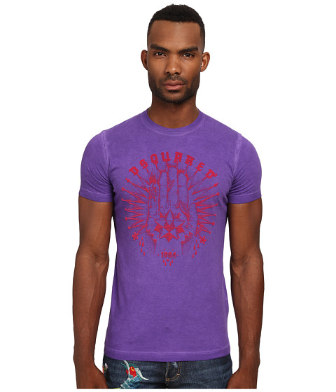Imbracaminte Barbati DSQUARED2 Fortune Sexy Slim Fit Tee Purple