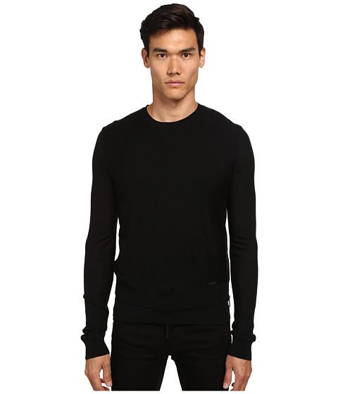 Imbracaminte Barbati DSQUARED2 Zipper Detail Crew Neck Sweater Black