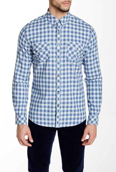 Imbracaminte Barbati Moods of Norway Joakim Classic Fit Shirt brunera blue