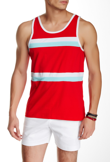 Imbracaminte Barbati Parke Ronen Olympian Tank RED W-WHITE AND TURQUOISE