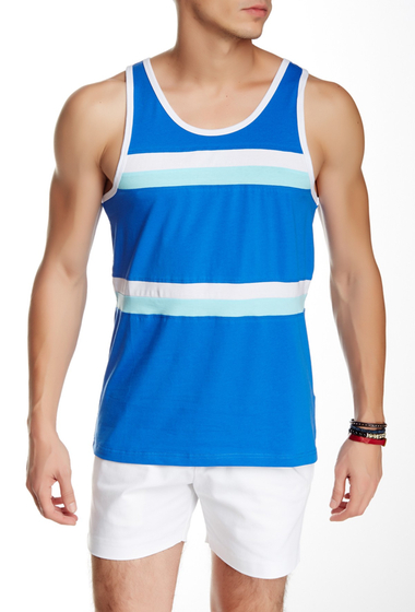Imbracaminte Barbati Parke Ronen Olympian Tank ROYAL W-WHITE AND TURQUOISE