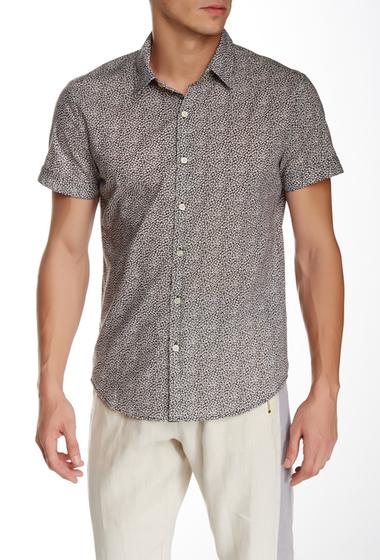 Imbracaminte Barbati Parke Ronen Elation Short Sleeve Slim Fit Shirt BLACK PRINT