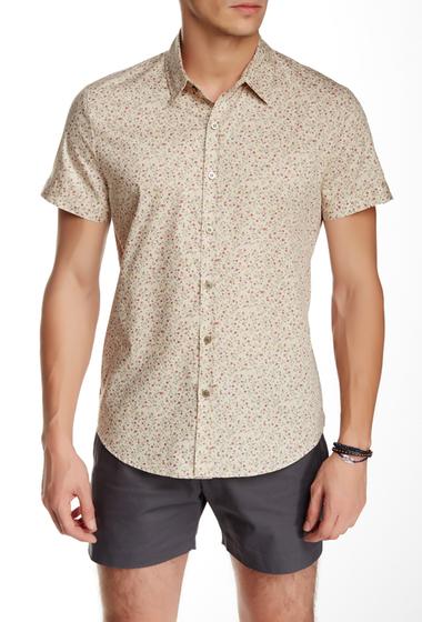 Imbracaminte Barbati Parke Ronen Elation Short Sleeve Slim Fit Shirt BEIGE RED PURPLE FLORAL
