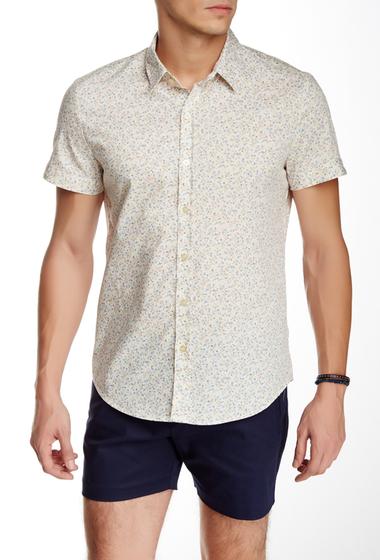 Imbracaminte Barbati Parke Ronen Elation Short Sleeve Slim Fit Shirt WHITE BLUE GREEN FLORAL