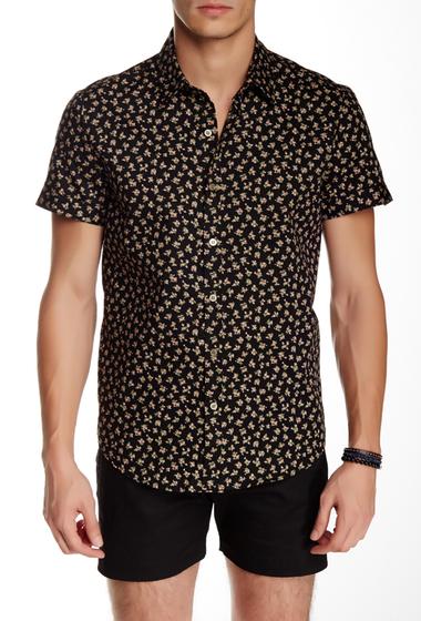 Imbracaminte Barbati Parke Ronen Elation Short Sleeve Slim Fit Shirt BLACK PINK FLORAL