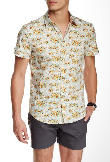 Imbracaminte Barbati Parke Ronen Elation Short Sleeve Slim Fit Shirt WHITE ORANGE BLUE FLORAL