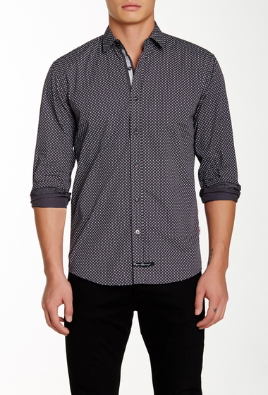 Imbracaminte Barbati English Laundry Long Sleeve Woven Shirt GREY