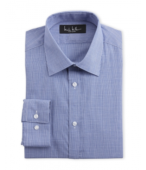 Imbracaminte Barbati Nicole Miller Plaid Slim Fit Dress Shirt Blue