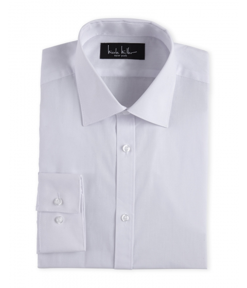 Imbracaminte Barbati Nicole Miller White Slim Fit Dress Shirt White