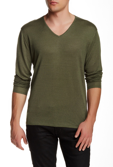 Imbracaminte Barbati Star USA By John Varvatos V-Neck Pullover DRIED SAGE