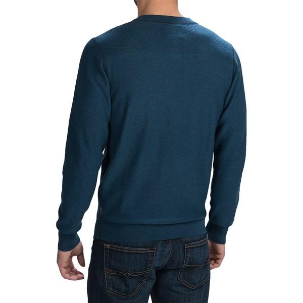 Imbracaminte Barbati Woolrich Six Mile Sweater CADET BLUE (01)