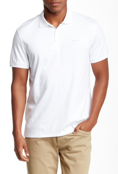 Imbracaminte Barbati Calvin Klein Liquid Cotton Polo WHITE