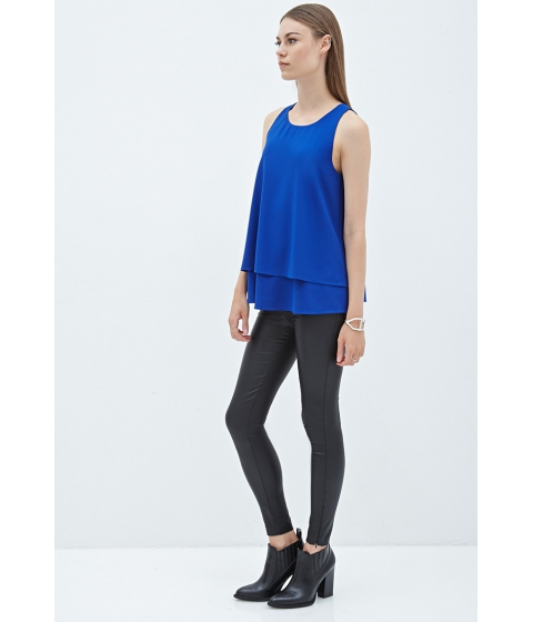 Imbracaminte Femei Forever21 Layered Woven Blouse Royal