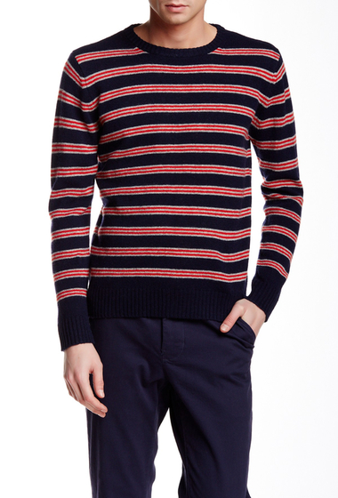 Imbracaminte Barbati Gant Rugger Stripe O-Rama Wool Sweater NAVY